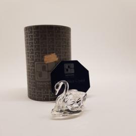 Swarovski Silver Crystal Zwaan met doos en certificaat