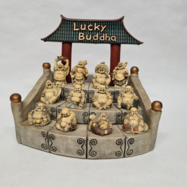 Lucky Buddha tempeltjes met 12 mini buddha's