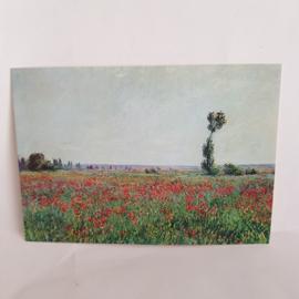 Briefkaart Claude Monet het Papaverveld