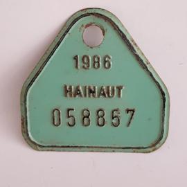 Hainaut fietsplaatje 1986