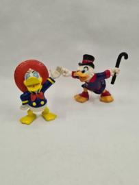 Disney Donald en Dagobert Duck rubber