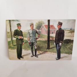 Ansichtkaart uit oorlogstijd, Grenadiers en Jagers no.4