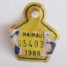 Hainaut fietsplaatje 1988