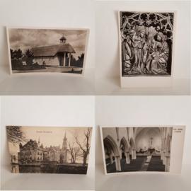 4 zwart wit foto briefkaarten Gelderland