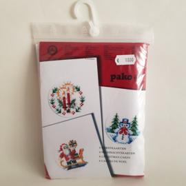 Borduurpakket kerstkaarten