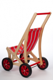 Houten buggy/poppenwagen
