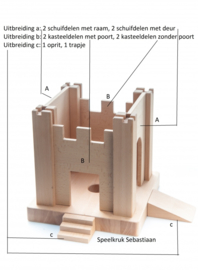 Uitbreidingset speelkruk sebastiaan Set C > 1 oprit + 1 trapje