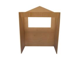 Houten poppenkast tafelmodel 12x30x20cm