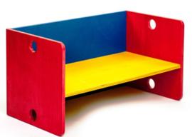 Kubus model houten kinderbank 3 kleuren