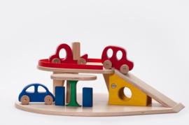 Houten Speelgoed Garage met auto`s