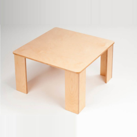 Houten kubus kindertafel