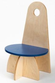 Houten Kinderstoel met rugleuning Apollo design serie Rood