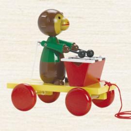 trekfiguur aap met xylofoon, gekleurd