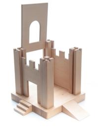 Uitbreidingset speelkruk sebastiaan (B) 2 kasteeldelen met poort, 2 kasteeldelen zonder poort