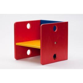 Kubus model Houten Kinderstoel gekleurde uitvoering