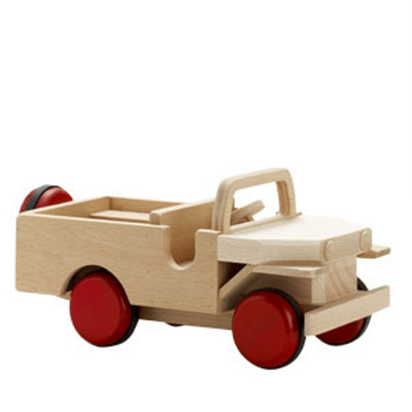 Houten Speelgoed Auto Jeep (33 cm)