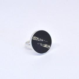 Ring - Black & Gold stripes
