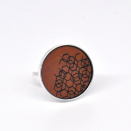 Ring - cognac1