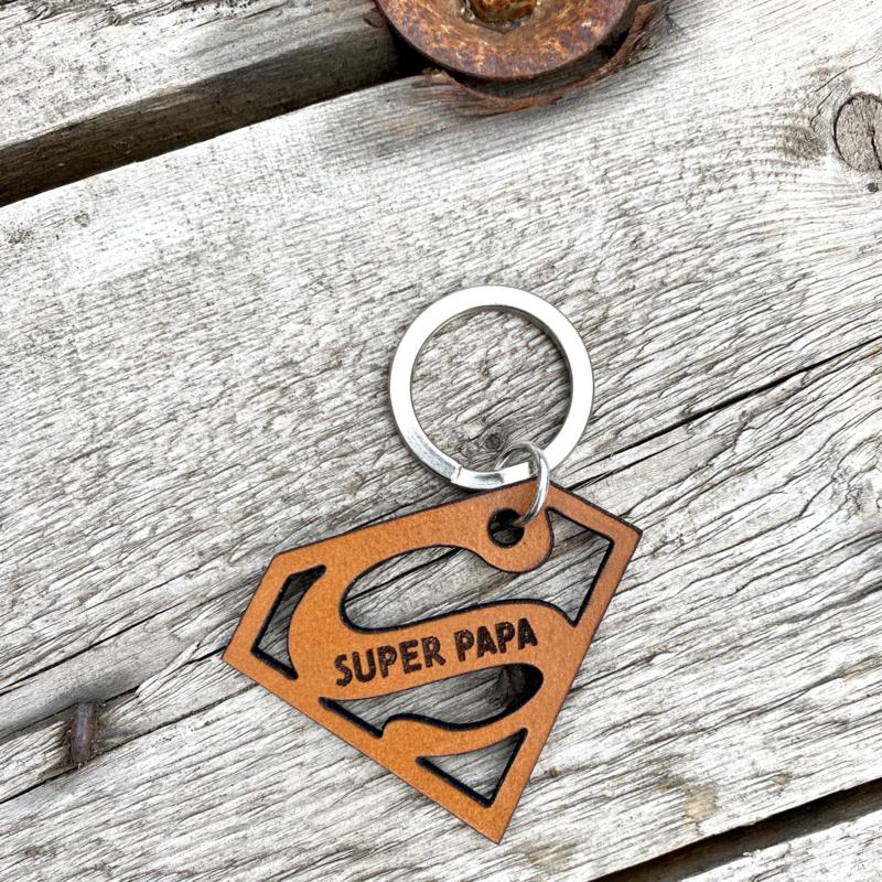 Sleutelhanger - super papa