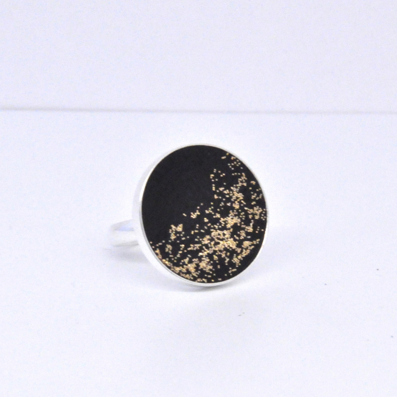 Ring - Black & Gold sparkle