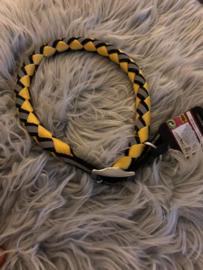 Halsband grijs met zwart