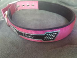 Linky extra brede band kleur roze