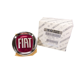 Embleem achterzijde Fiat diverse modellen rood