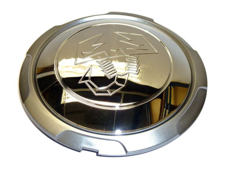 Set van 4 naafdoppen Fiat 500 Abarth Chrome (origineel Fiat)