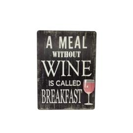 Tekstbord wijn