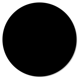 Muurcirkel Zwart