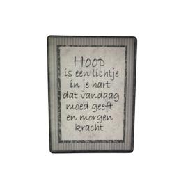 Tekstbord Hoop