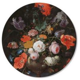 Muurcirkel Bonte bloemen