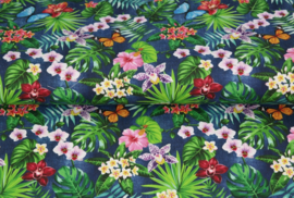 Stenzo poplin Tropical flowers