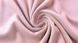 Tricot rib fijn roze