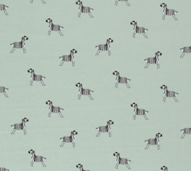 Katoen tricot Mini zebrapaardje