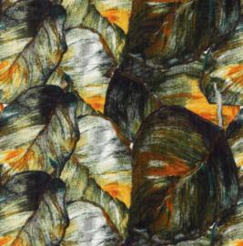 Snoozy fabrics Hydrofiel Grof blad oker