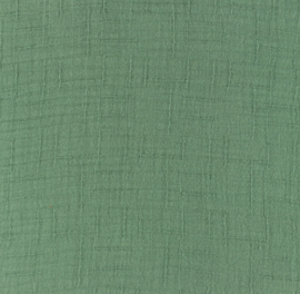 Snoozy fabrics Bamboe Hydrofiel donker oudgroen