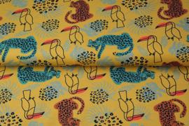 Stenzo Katoen tricot Toekan en tijgers
