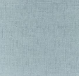 Snoozy fabrics Bamboe Hydrofiel ijsblauw
