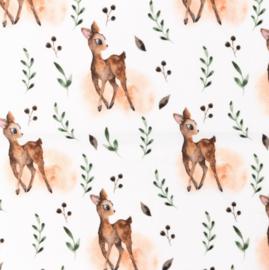 Snoozy fabrics Poplin digital Hertje