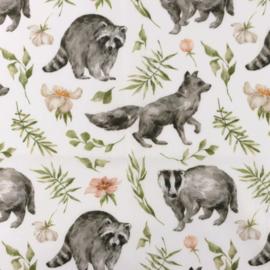 Snoozy fabrics Poplin digital Wolfe