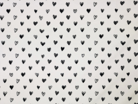 Katoen tricot hartjes fijn