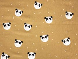 Gewassen krinkel katoen panda