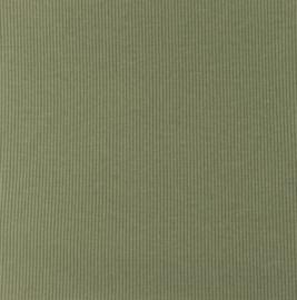 Snoozy fabrics Rib jersey Khaki