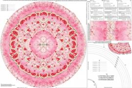 Stenzo tricot Panel meisjesrok pink melon