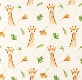Snoozy fabrics Tricot Girafje
