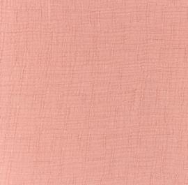 Snoozy fabrics Bamboe Hydrofiel oudroze