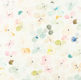 Snoozy fabrics Baby waffle Aqua bloesem