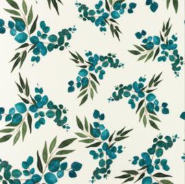 Snoozy fabrics Tricot digitaal Bladeren