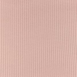 Snoozy fabrics Wafel jersey Licht oudroze